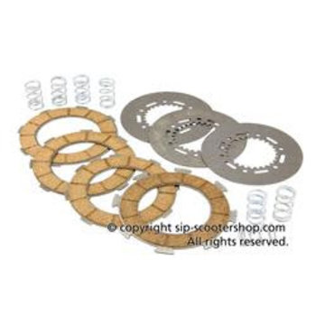 Clutch Friction Plates, 4 plates, 7 springs