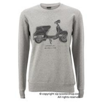 "Sweatshirt ""Life is better"" Grey"