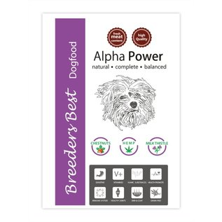 Breeders Best Nouveautée ! Alpha Power 2,5kg ou 10kg