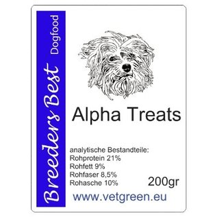 Breeders Best Alpha Treats 200g.