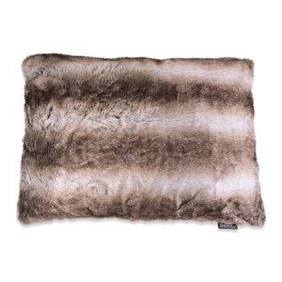 LEX & MAX LEX & MAX Rectangle Royal Fur 60x 45 cm Silverfox