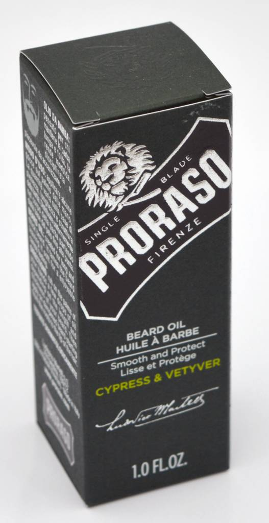Proraso beard oil huile a barba cypress & vetyver 30ml proraso