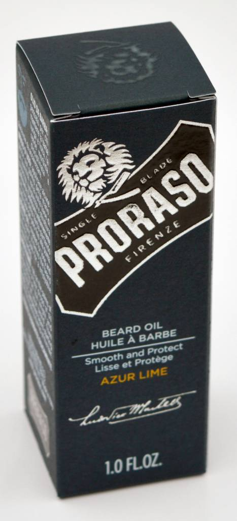 Proraso beard oil huile a barba azur lime  30ml proraso
