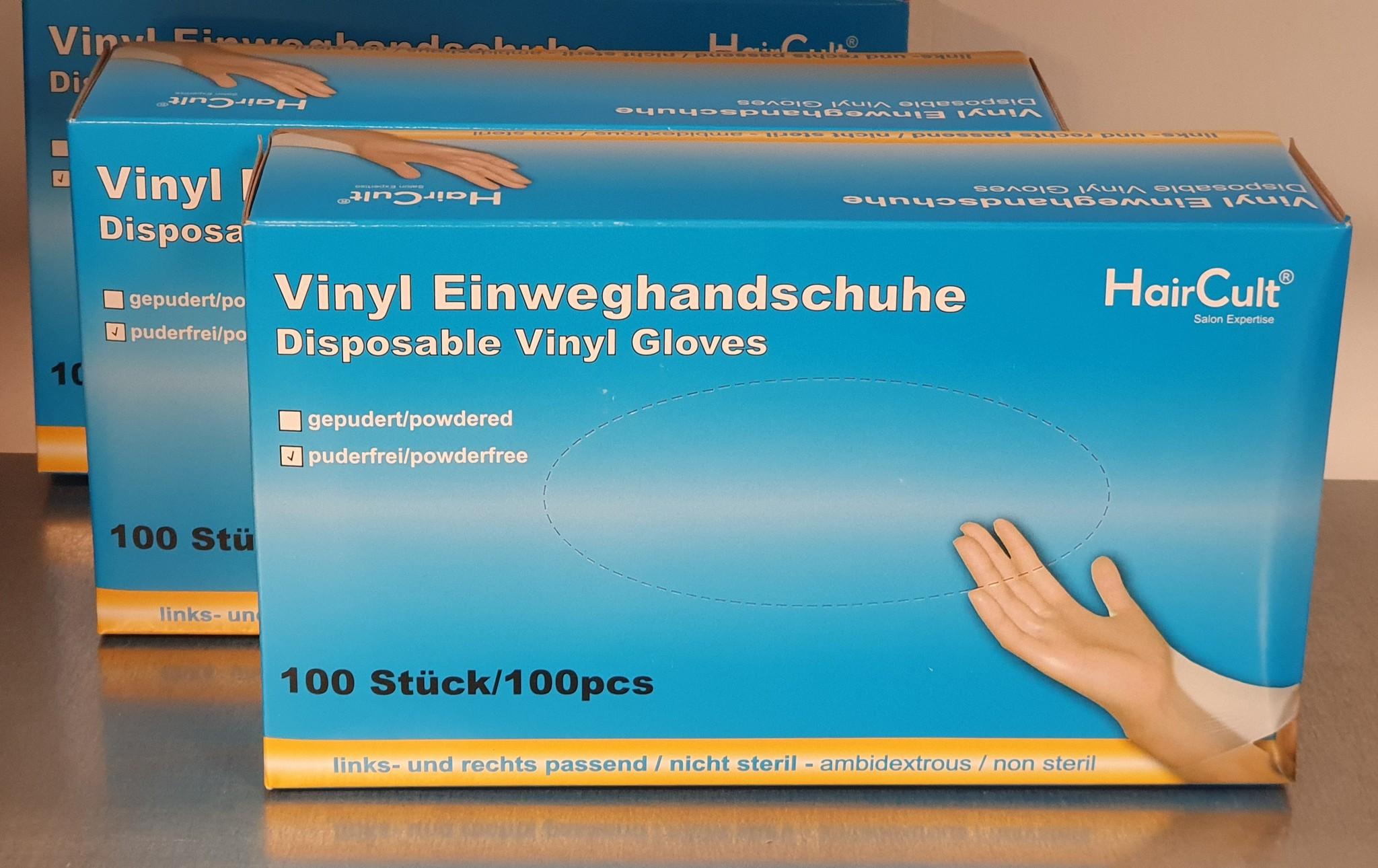 handschoenen poedervrij vinyl maat L large 100stuks