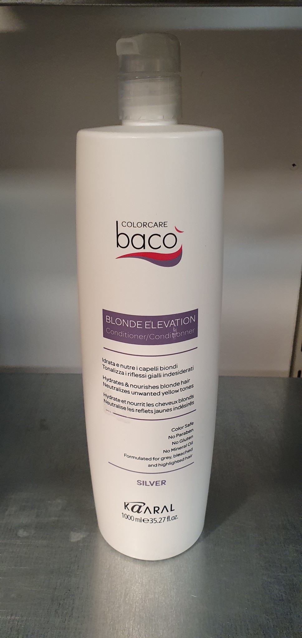 Kaaral Baco blonde elevation silver conditioner