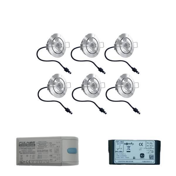 Lavanto LED inbouwspots 6x3W voor Somfy IO