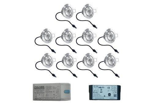 HOFTRONIC™ Complete set 10x3W dimmable Lavanto LED porch lights IP44 including Somfy IO receiver