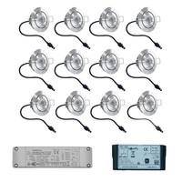 Set mit 12x3 Watt dimmbarer Lavanto LED Einbaustrahler IP44 mit Somfy IO Empfänger Exklusive Fernbedienung