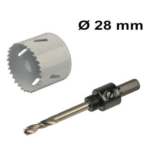 INTOLED Bohrlochsäge Set Ø 28 mm Bi-Metall