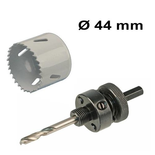 HOFTRONIC™ Hole saw Ø 44 mm Bi-metal + adapter with drill