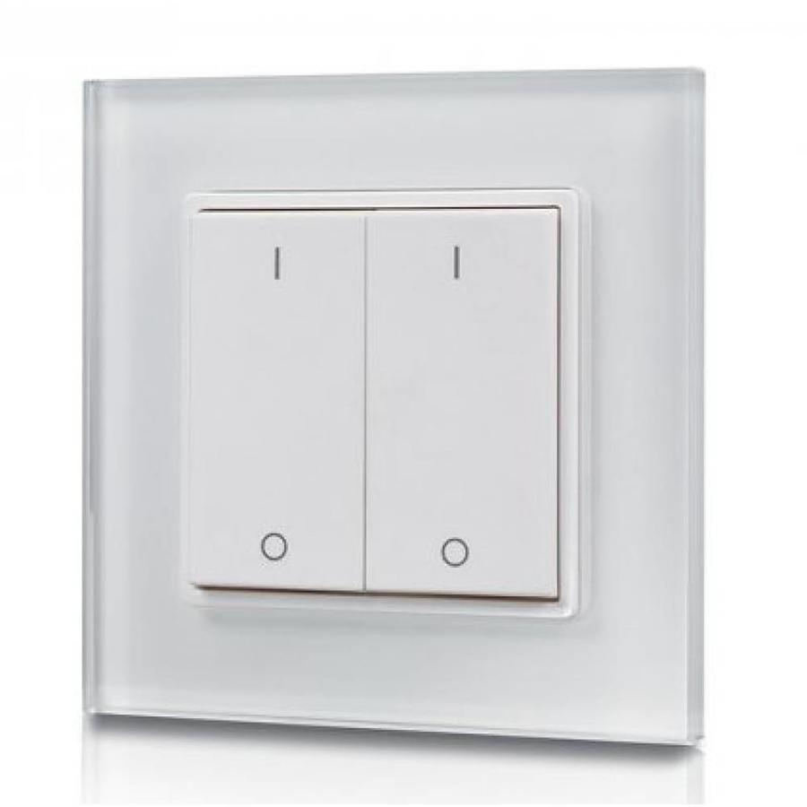 2-kanaals draadloze LED muur dimmer