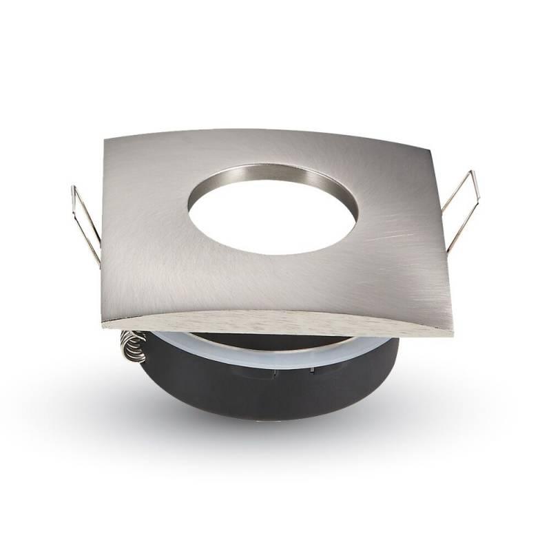 Sevilla IP44 GU10 armatuur geborsteld aluminium
