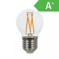 LED gloeilamp G45 met E27 fitting 4 Watt 350lm extra warm wit 2700K