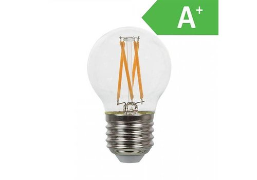 LED filament bulb G45 with E27 fitting 4 Watt 350lm extra warm white 2700K