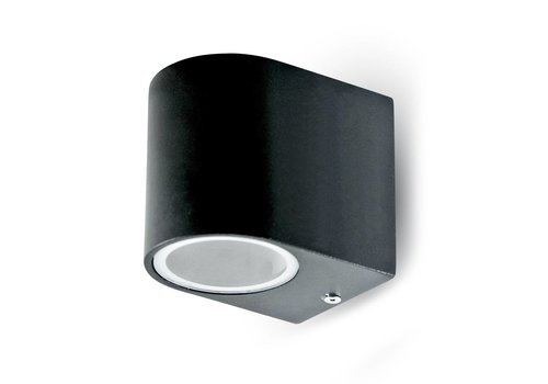 Wand Außenleuchte Schwarz geeignet für GU10 Strahler IP44 feuchtigkeitsfest 3 Jahre Garantie