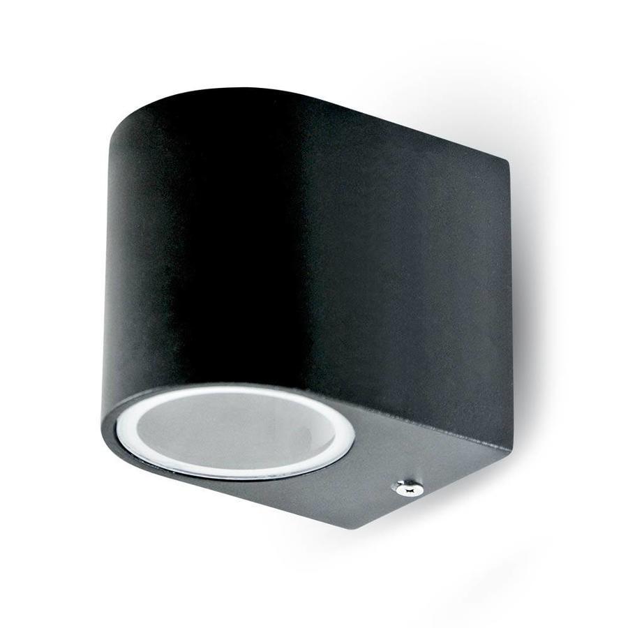 Wandlamp zwart geschikt voor GU10 spots IP44 vochtbestendig 3 jaar garantie