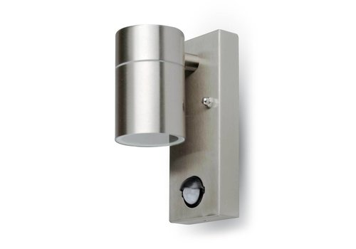 LED Wall Outdoor lamp stainless steel with motion detector and twilight sensor IP44