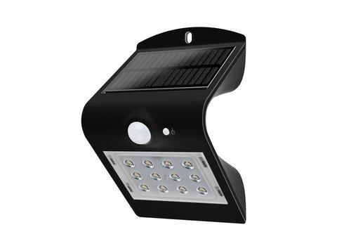 LED Solarleuchte Schwarz 1,5 Watt 4000K Neutralweiß