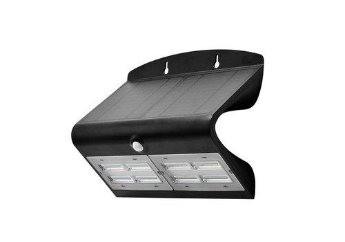 LED Solar Wandlamp Zwart 7 Watt 4000K Neutraal wit