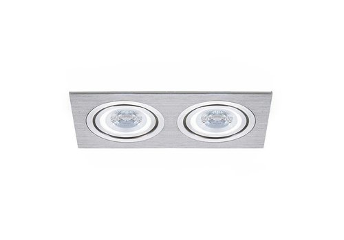 INTOLED LED inbouwspot Houston 2x GU10 3W 3000K Kantelbaar