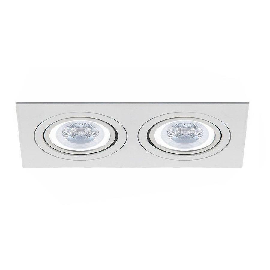LED inbouwspot Kansas 2x GU10 3W 3000K kantelbaar