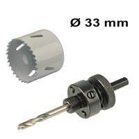 Gatenzaag set Ø 33 mm Bi-Metaal + adapter met centreerboor