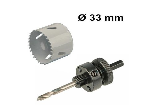 INTOLED Hole saw Ø334 mm Bi-metal + adapter with drill