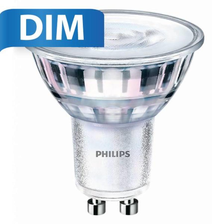 Philips GU10 LED spot 4 Watt Dimmable 2200-2700K Glow warm (replaces 35W)