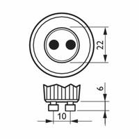Philips GU10 LED-Strahler 5 Watt Dimmbar 2700K Warmweiß (ersetzt 50W)