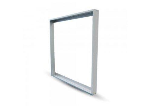 V-TAC LED Panel Aufbau-Rahmen für LED-Panels 62 x 62 cm Farbe Weiß