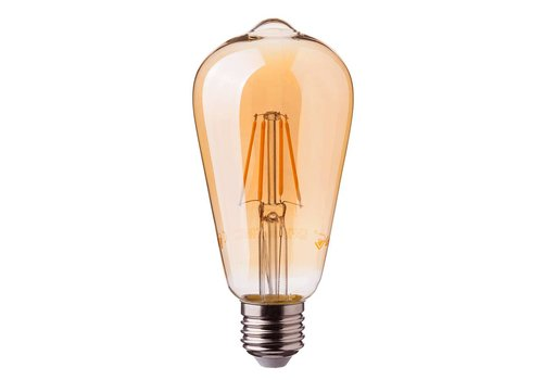 LED filament bulb ST64 with E27 fitting 8 Watt 700lm super warm white 2200K