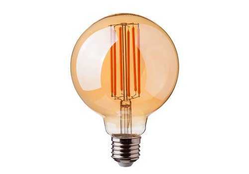 V-TAC LED filament bulb G95 with E27 fitting 7 Watt 700lm super warm white 2200K