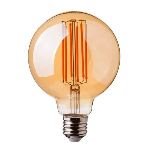 LED filament bulb G95 with E27 fitting 7 Watt 700lm super warm white 2200K