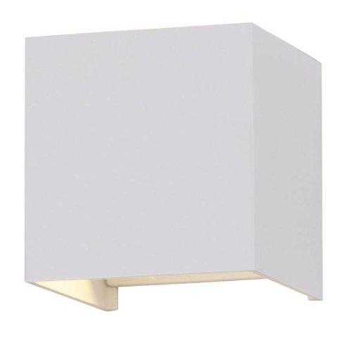 LED Wandleuchte Quadratisch Weiß Beidseitig leuchtend 6 Watt 3000K IP65 Wasserdicht