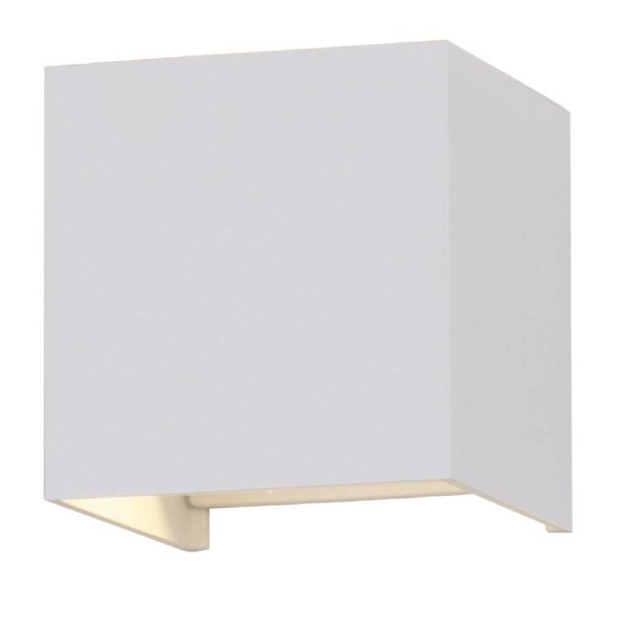 LED wandlamp 6 Watt 3000K tweezijdig oplichtend IP65 witte Cube