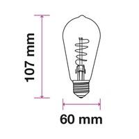 LED gloeilamp ST64 met E27 fitting 4 Watt 400lm super warm wit 2200K