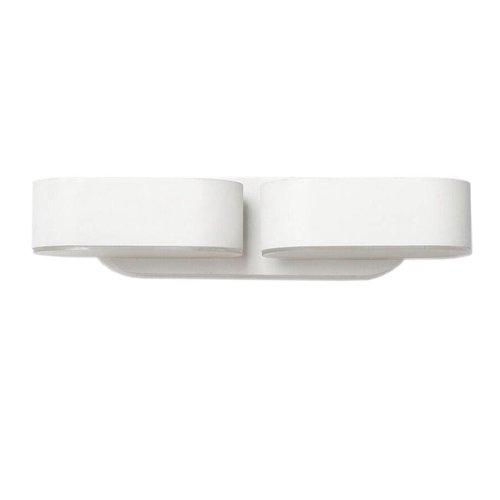 LED wandlamp kantelbaar in de kleur wit 12 Watt 3000K IP65 waterdicht