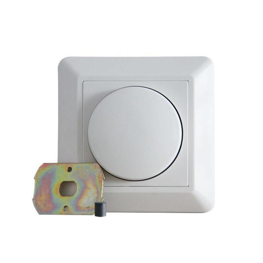 LED Dimmer 0-150 Watt  Phasenanschnit Inkl. Blendrahmen und Knopf