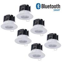 Complete set 6 stuks dimbare Bluetooth LED inbouwspot Stockholm 10 Watt IP65 - 5 jaar garantie
