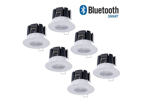 INTOLED Set of 6 dimmable Bluetooth LED downlights Stockholm 10 Watt IP65