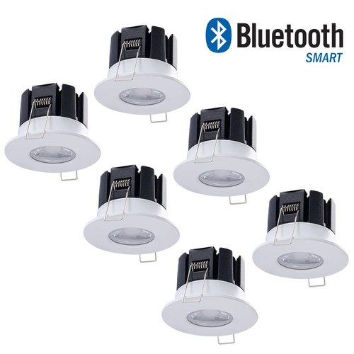 INTOLED Set 6 stuks dimbare Bluetooth LED inbouwspots Stockholm 10 Watt