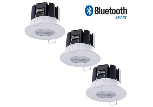 INTOLED Set mit 3 dimmbarer Bluetooth LED Einbaustrahler Stockholm 10 Watt IP65