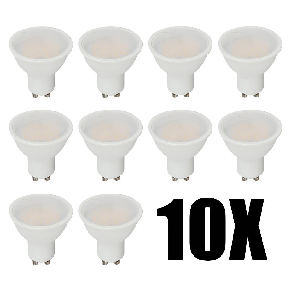 V-TAC LED spots - 10 stuks - GU10 - LED - 230V - 5 Watt - Warm wit