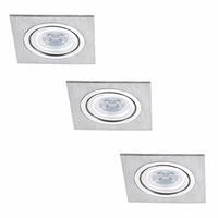 Set van 3 stuks dimbare LED inbouwspots Marbella met 4 Watt Philips spot kantelbaar