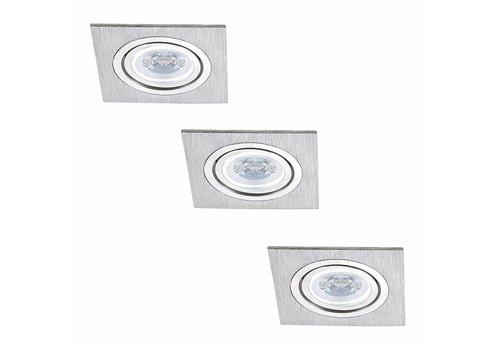 INTOLED Komplettset 3 Stück Dimmbare LED Einbaustrahler Marbella 4 Watt mit Philips Spot Kippbar