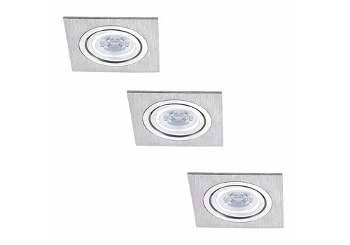 Philips Set of 3 dimmable LED downlights Marbella 4 Watt with Philips spot tiltable