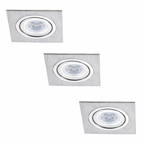 INTOLED Set of 3 dimmable LED downlights Marbella 4 Watt with Philips spot tiltable