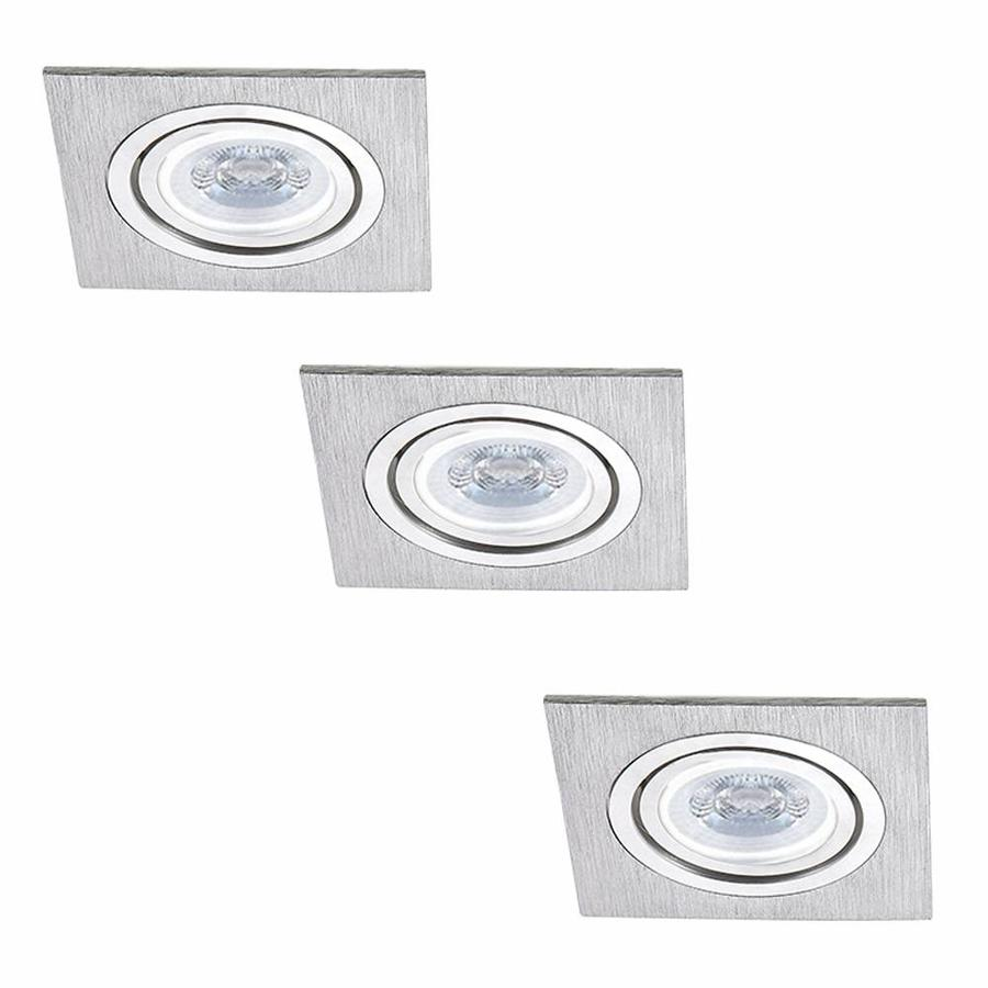 Set of 3 dimmable LED downlights Marbella 4 Watt with Philips spot tiltable