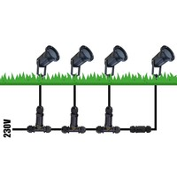 Gardenspike aluminium black suitable for GU10 spots IP44 moisture-proof 3 Years warranty