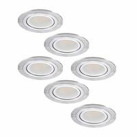 LED Einbaustrahler set 6 Stück Chandler 3 Watt Kippbar Nicht Dimmbar